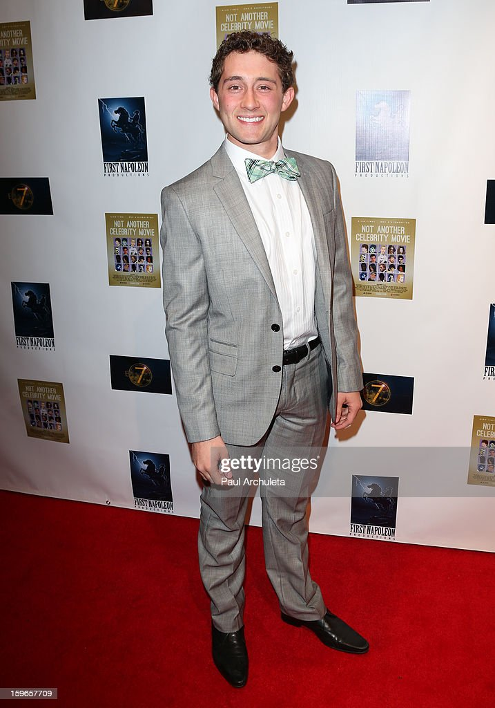Actor Scott Cooper Ryan attends the premiere for 'Not Another Celebrity Movie' at Pacific Design Center on January 17, 2013 in West Hollywood, California.