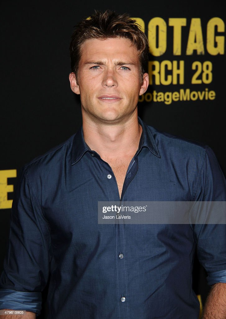 Actor <a gi-track='captionPersonalityLinkClicked' href=/galleries/search?phrase=Scott+Eastwood&family=editorial&specificpeople=5793075 ng-click='$event.stopPropagation()'>Scott Eastwood</a> attends the premiere of 'Sabotage' at Regal Cinemas L.A. Live on March 19, 2014 in Los Angeles, California.