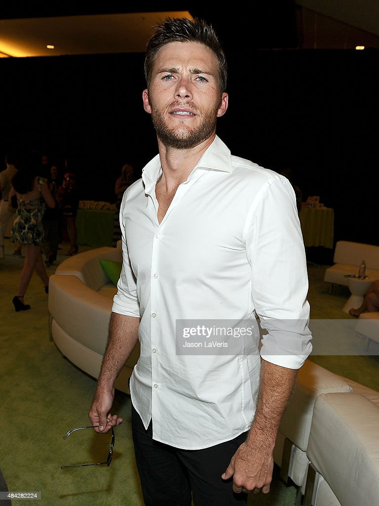 Actor Scott Eastwood poses in the green room at the 2015 Teen Choice Awards at Galen Center on August 16, 2015 in Los Angeles, California.