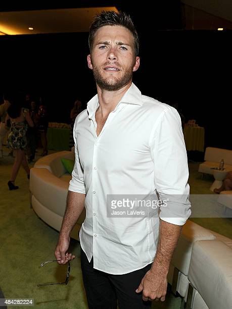 Actor Scott Eastwood poses in the green room at the 2015 Teen Choice Awards at Galen Center on August 16 2015 in Los Angeles California