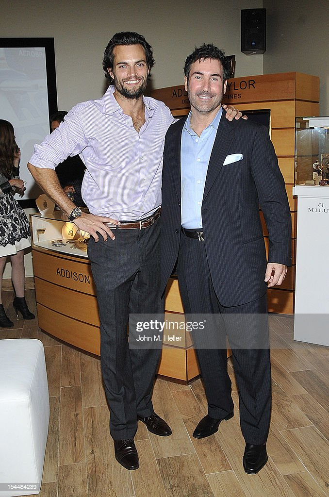 Actor <a gi-track='captionPersonalityLinkClicked' href=/galleries/search?phrase=Scott+Elrod&family=editorial&specificpeople=2217407 ng-click='$event.stopPropagation()'>Scott Elrod</a> and Scott Berger, OH, CB attend the opening of AutoConcierge on October 4, 2012 in Los Angeles, California.