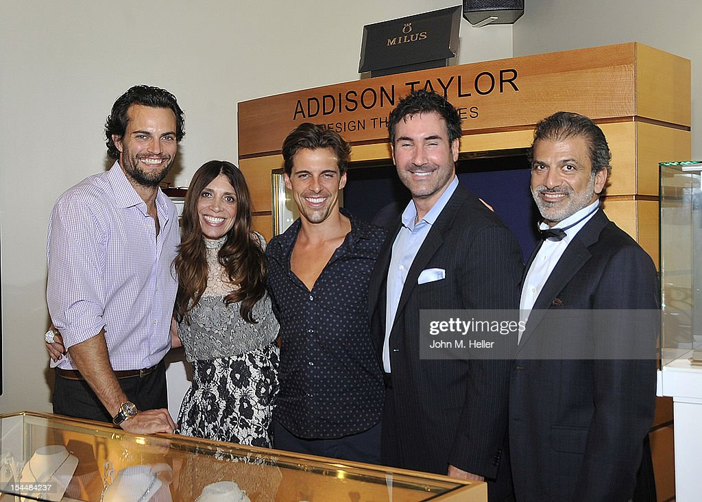 Actor Scott Elrod, Mada Berger, actor Madison Hildebrand, Scott Berger,O.H.,C.B. and President & CEO of Milus Doron Basha attend the opening of AutoConcierge on October 4, 2012 in Los Angeles, California.