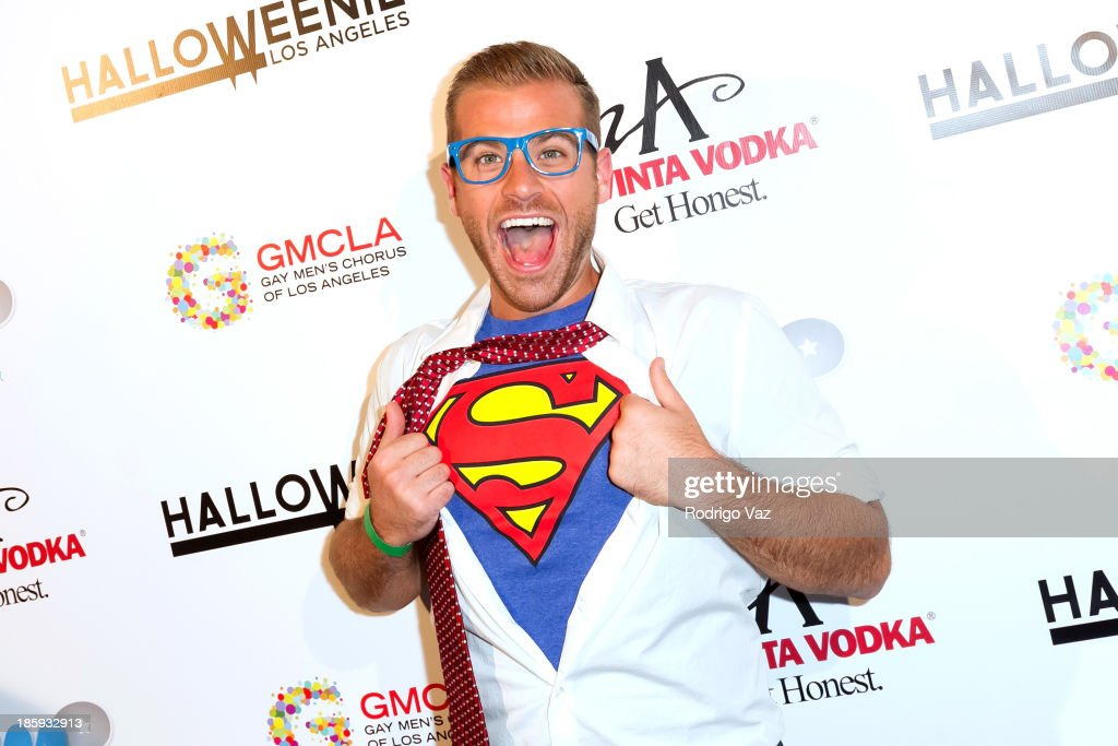 Actor <a gi-track='captionPersonalityLinkClicked' href=/galleries/search?phrase=Scott+Evans&family=editorial&specificpeople=695675 ng-click='$event.stopPropagation()'>Scott Evans</a> attends Fred and Jason's 8th Annual 'Halloweenie' Holiday Concert By The Gay Men's Chorus of Los Angeles at Los Angeles Theatre on October 25, 2013 in Los Angeles, California.
