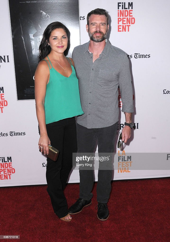 Actor Scott Foley and wife actress Marika Dominczyk attend 2016 Los Angeles Film Festival 'The Conjuring 2' premiere at TCL Chinese Theatre IMAX on...