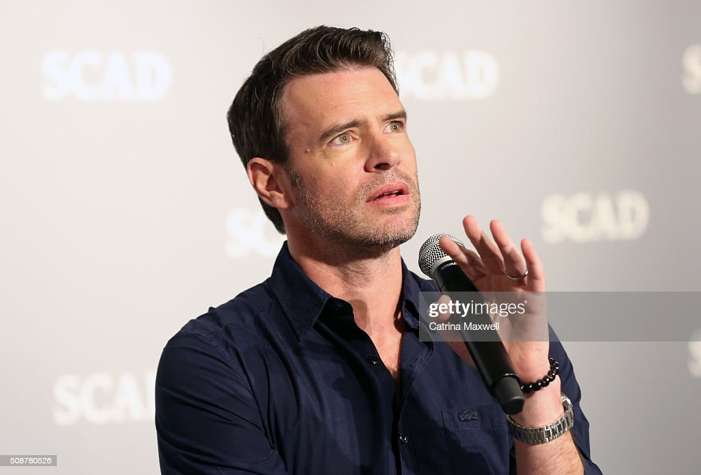 Actor <a gi-track='captionPersonalityLinkClicked' href=/galleries/search?phrase=Scott+Foley&family=editorial&specificpeople=615795 ng-click='$event.stopPropagation()'>Scott Foley</a> speaks on stage during 'Behind The Lens: ShondaLand' panel during aTVfest 2016 presented by SCAD on February 6, 2016 in Atlanta, Georgia.