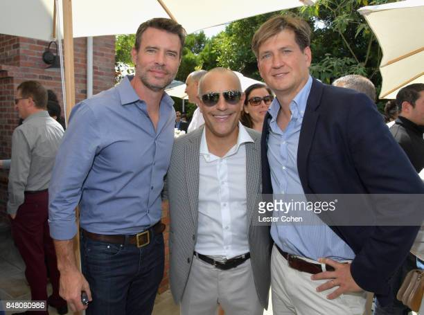 Actor Scott Foley Ted Chervin and writer Bill Lawrence attend the ICM Partners PreEmmy Brunch on September 16 2017 in Santa Monica California