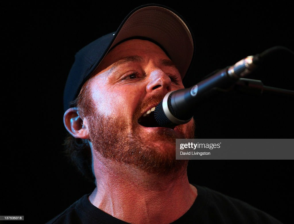 Actor Scott Grimes performs on stage with Band From TV at the 110th NAMM Show - Day 3 at the Anaheim Convention Center on January 21, 2012 in Anaheim, California.