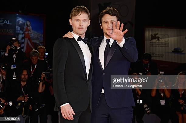 Actor Scott Haze and director James Franco attend the 'Child Of God' Premiere during The 70th Venice International Film Festival at the Palazzo del...