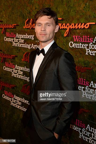 Actor Scott Haze wearing Ferragamo arrives at the Wallis Annenberg Center for the Performing Arts Inaugural Gala presented by Salvatore Ferragamo at...