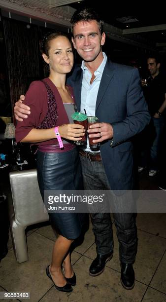 Actor Scott Maslen and his guest attend the party after the premiere of 'The Firm' at The Embassy Club on September 10 2009 in London England
