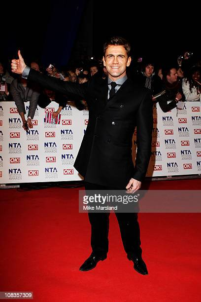 Actor Scott Maslen attends the The National Television Awards at the O2 Arena on January 26 2011 in London England
