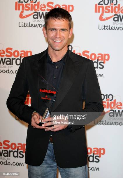 Actor Scott Maslen wins sexiest male at the Inside Soap Awards 2010 at Gilgamesh on September 27 2010 in London England
