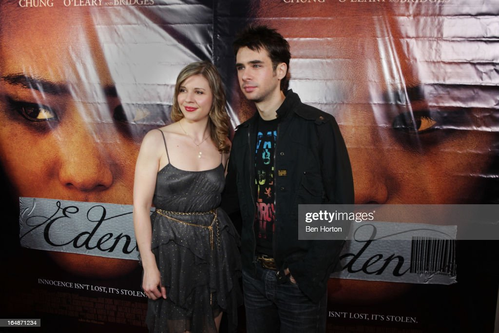 Actor <a gi-track='captionPersonalityLinkClicked' href=/galleries/search?phrase=Scott+Mechlowicz&family=editorial&specificpeople=621393 ng-click='$event.stopPropagation()'>Scott Mechlowicz</a> (R) attends the premiere of 'Eden' at Laemmle Music Hall on March 28, 2013 in Beverly Hills, California.