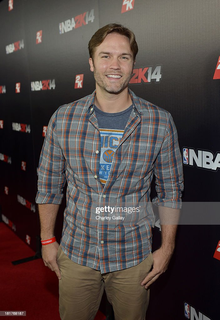 Actor Scott Porter attends the NBA 2K14 premiere party at Greystone Manor on September 24, 2013 in West Hollywood, California.