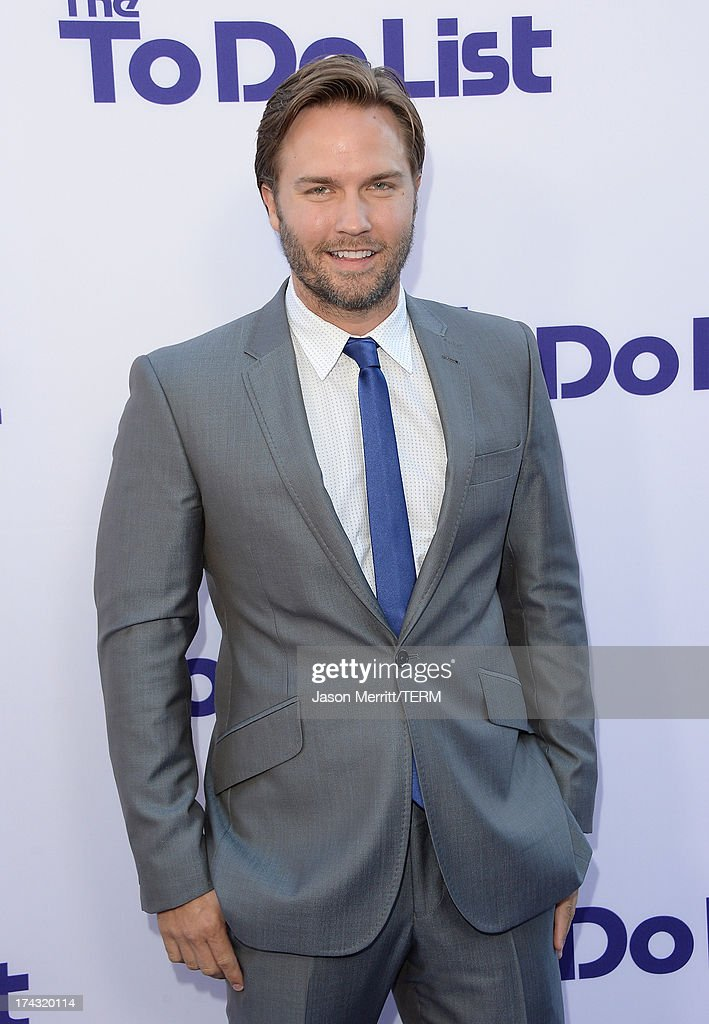 Actor Scott Porter attends the premiere of CBS Films' 'The To Do List' on July 23, 2013 in Westwood, California.