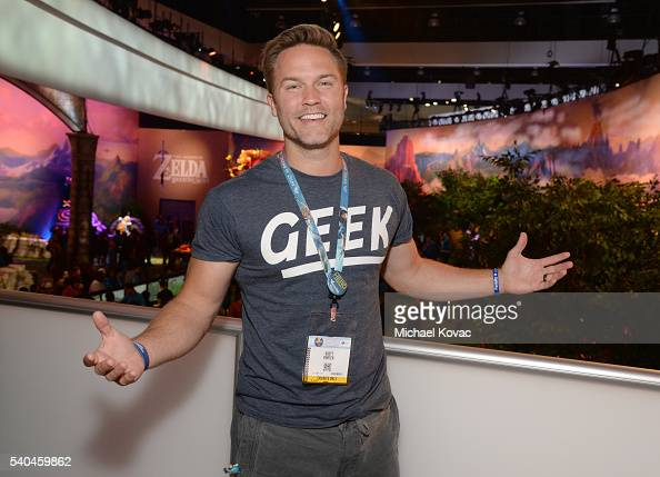 Actor Scott Porter visits the Nintendo booth at the 2016 E3 Gaming Convention at Los Angeles Convention Center on June 15 2016 in Los Angeles CA