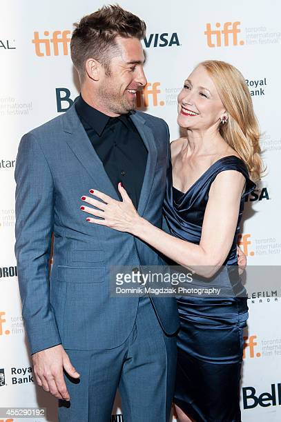 Actor Scott Speedman and actress Patricia Clarkson attend the 'October Gale' premiere during the Toronto International Film Festival at Winter Garden...