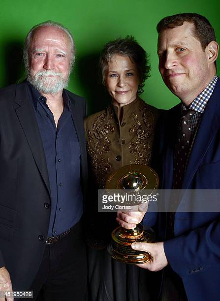 Actor Scott Wilson actress Melissa McBride and producer Scott Gimple pose for a portrait at the 40th Annual Saturn Awards held at The Castaway on...