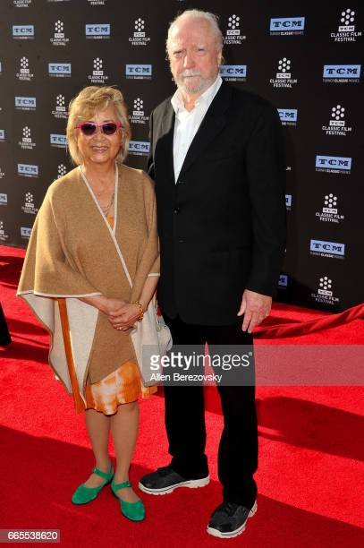 Actor Scott Wilson and a guest attend 2017 TCM Classic Film Festival's opening night gala and 50th anniversary screening of 'In The Heat Of The...