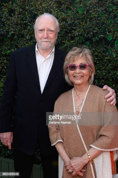Actor Scott Wilson and Heavenly Koh Wilson attend the 50th anniversary screening of 'In the Heat of the Night' during the 2017 TCM Classic Film...