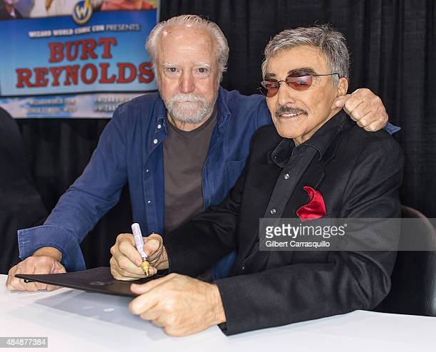 Actor Scott Wilson and Hollywood Icon/actor Burt Reynolds attend Wizard World Comic Con Chicago 2015 Day 3 at Donald E Stephens Convention Center on...