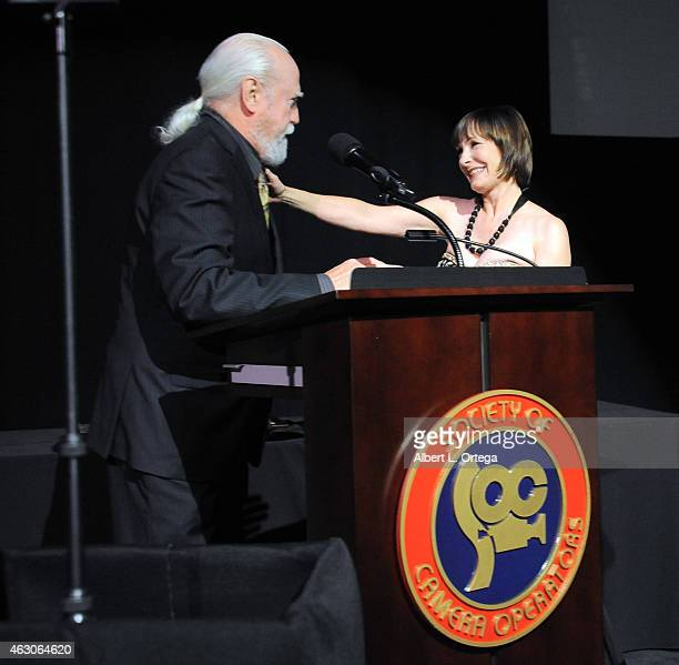 Actor Scott Wilson and producer Gale Anne Hurd at the 2015 Society Of Camera Operators Awards held at Paramount Studios on February 8 2015 in...