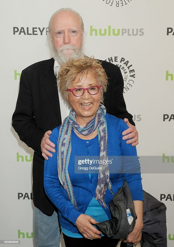 Actor Scott Wilson and wife Heavenly Koh arrive at the 30th Annual PaleyFest: The William S. Paley Television Festival featuring 'The Walking Dead' at Saban Theatre on March 1, 2013 in Beverly Hills, California.