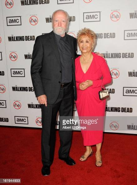 Actor Scott Wilson and wife...