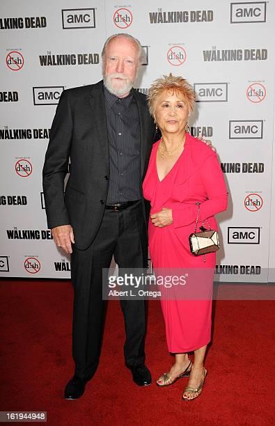 Actor Scott Wilson and wife Heavenly Koh arrive for AMC's 'The Walking Dead' Season 3 Premiere held at AMC Universal Citywalk Stadium 19 on October 4...