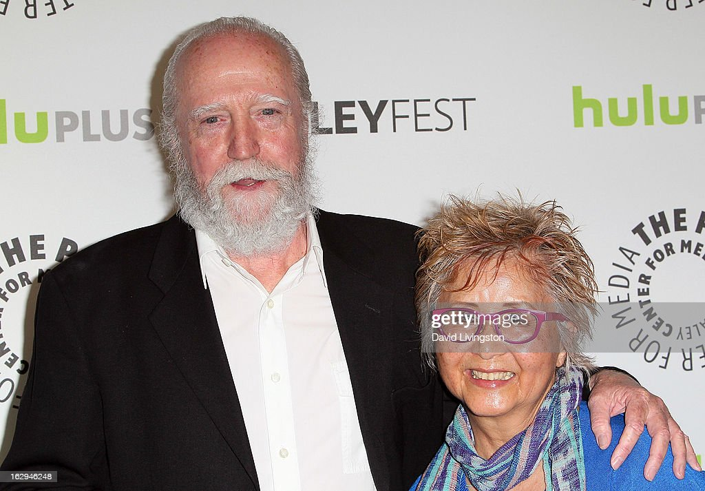 Actor Scott Wilson (L) and wife Heavenly Wilson attend The Paley Center for Media's PaleyFest 2013 honoring 'The Walking Dead' at the Saban Theatre on March 1, 2013 in Beverly Hills, California.