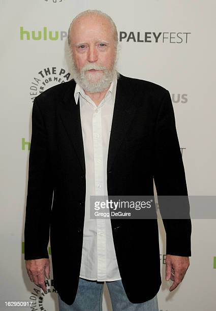 Actor Scott Wilson arrives at the 30th Annual PaleyFest The William S Paley Television Festival featuring 'The Walking Dead' at Saban Theatre on...