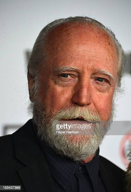 Actor Scott Wilson arrives at the premiere of AMC's 'The Walking Dead' 3rd Season at Universal CityWalk on October 4 2012 in Universal City California
