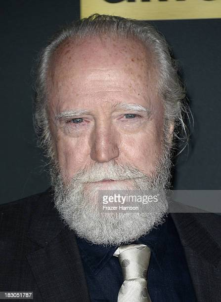 Actor Scott Wilson arrives at the premiere of AMC's 'The Walking Dead' 4th season at Universal CityWalk on October 3 2013 in Universal City California
