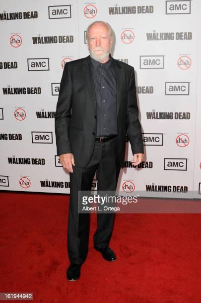 Actor Scott Wilson arrives for AMC's 'The Walking Dead' Season 3 Premiere held at AMC Universal Citywalk Stadium 19 on October 4 2012 in Universal...