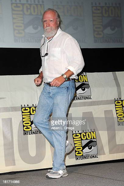 Actor Scott Wilson attends AMC's 'The Walking Dead' Panel as part of ComicCon International 2013 held at San Diego Convention Center on Friday July...