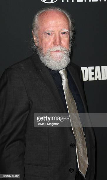 Actor Scott Wilson attends the premiere of AMC's 'The Walking Dead' 4th Season at Universal CityWalk on October 3 2013 in Universal City California