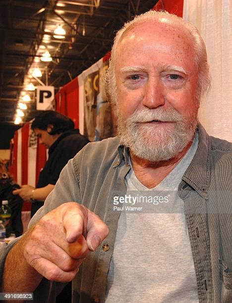 Actor Scott Wilson from the tv show The Walking Dead attends day 1 of the 25th annual Motor City Comic Con at Suburban Collection Showplace on May 16...