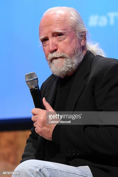 Actor Scott Wilson speaks at a panel discussion following the screening of 'The Walking Dead' on February 8 2014 in Atlanta Georgia