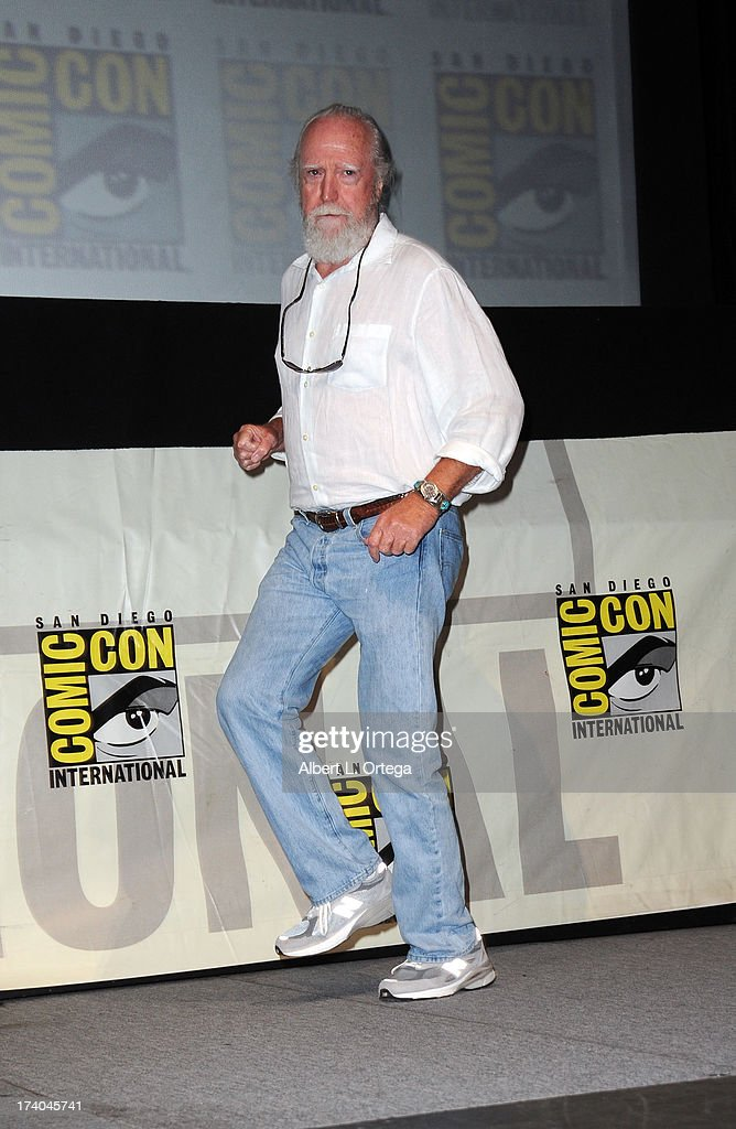 Actor Scott Wilson speaks onstage at AMC's 'The Walking Dead' panel during Comic-Con International 2013 at San Diego Convention Center on July 19, 2013 in San Diego, California.