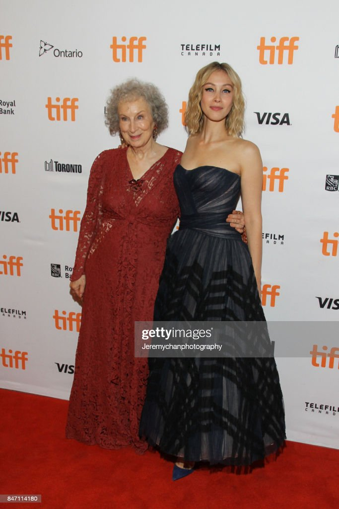 Actor / screenwriter Margaret Atwood and actor Sarah Gadon attend the 'Alias Grace' Premiere held at Winter Garden Theatre during the 2017 Toronto International Film Festival on September 14, 2017 in Toronto, Canada.