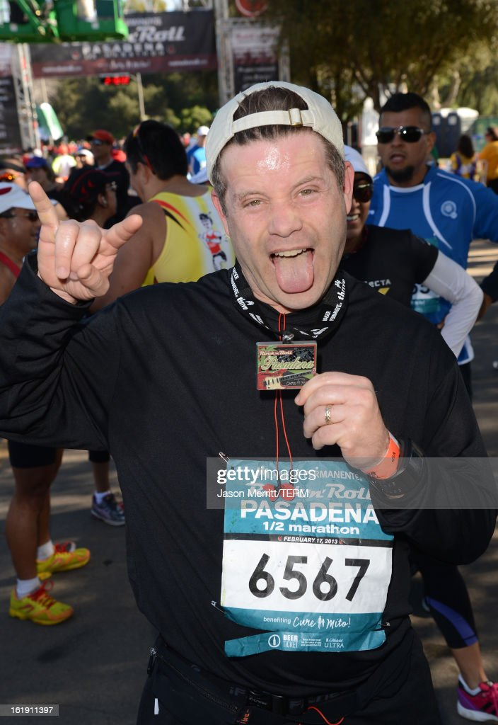 Actor Sean Astin attends the Kaiser Permanente Rock 'n' Roll Half Marathon and Mini Marathon to benefit CureMito!at the Rose Bowl on February 17, 2013 in Pasadena, California.