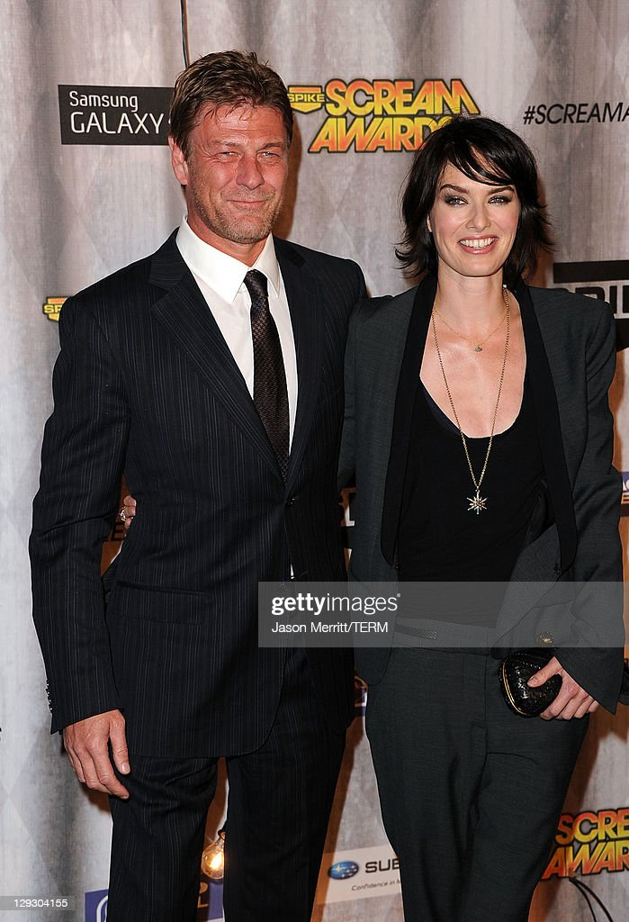 Actor Sean Bean (L) and Lena Headey arrive at Spike TV's 'SCREAM 2011' awards held at Universal Studios on October 15, 2011 in Universal City, California.