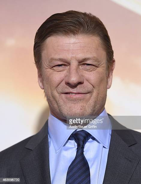 Actor Sean Bean arrives at the Los Angeles premiere of 'Jupiter Ascending' at TCL Chinese Theatre on February 2 2015 in Hollywood California