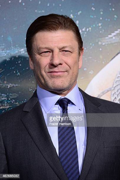Actor Sean Bean arrives at the Premiere of Warner Bros Pictures' 'Jupiter Ascending' at TCL Chinese Theatre on February 2 2015 in Hollywood California