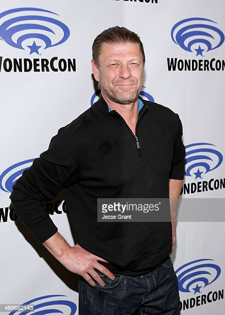 Actor Sean Bean attends the 'Legends' 2014 TNT Wondercon Panel at the Anaheim Convention Center on April 19 2014 in Anaheim California