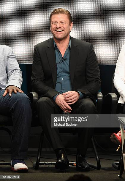 Actor Sean Bean speaks during the 'Legends' portion of the 2014 TCA Turner Broadcasting Summer Press Tour Presentation at The Beverly Hilton on July...