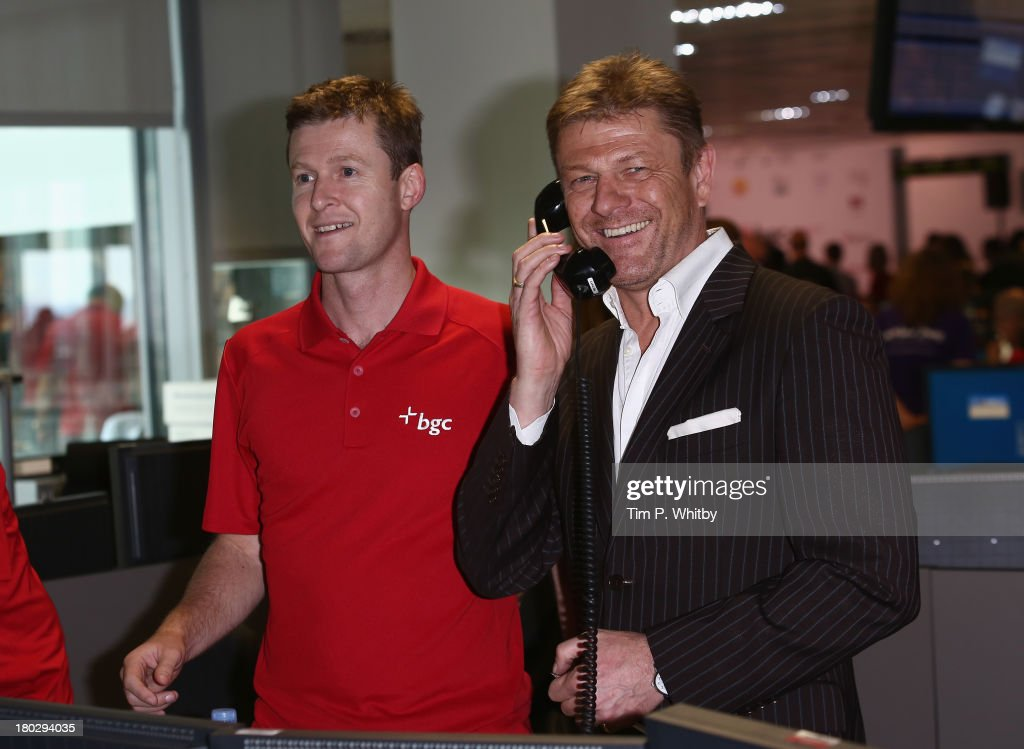 Actor <a gi-track='captionPersonalityLinkClicked' href=/galleries/search?phrase=Sean+Bean&family=editorial&specificpeople=160620 ng-click='$event.stopPropagation()'>Sean Bean</a> speaks on the phone on the trading floor during the BGC Charity Day 2013 at BGC Partners on September 11, 2013 in London, England.