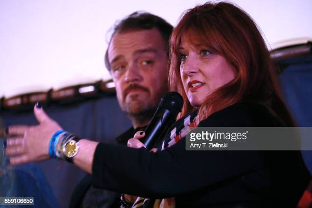 Actor Sean Bolger and Makeup artist Debbie Zoller answer questions on stage during the Twin Peaks UK Festival 2017 at Hornsey Town Hall Arts Centre...