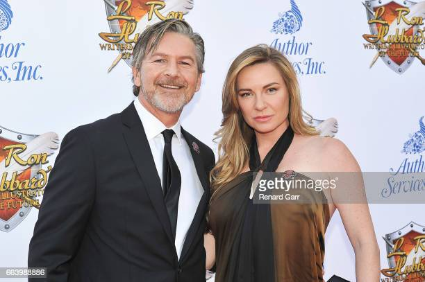 Actor Sean Cameron Michael and LeeAnne Summers attend the 33rd Annual L Ron Hubbard Achievement Awards at The Wilshire Ebell Theatre on April 2 2017...
