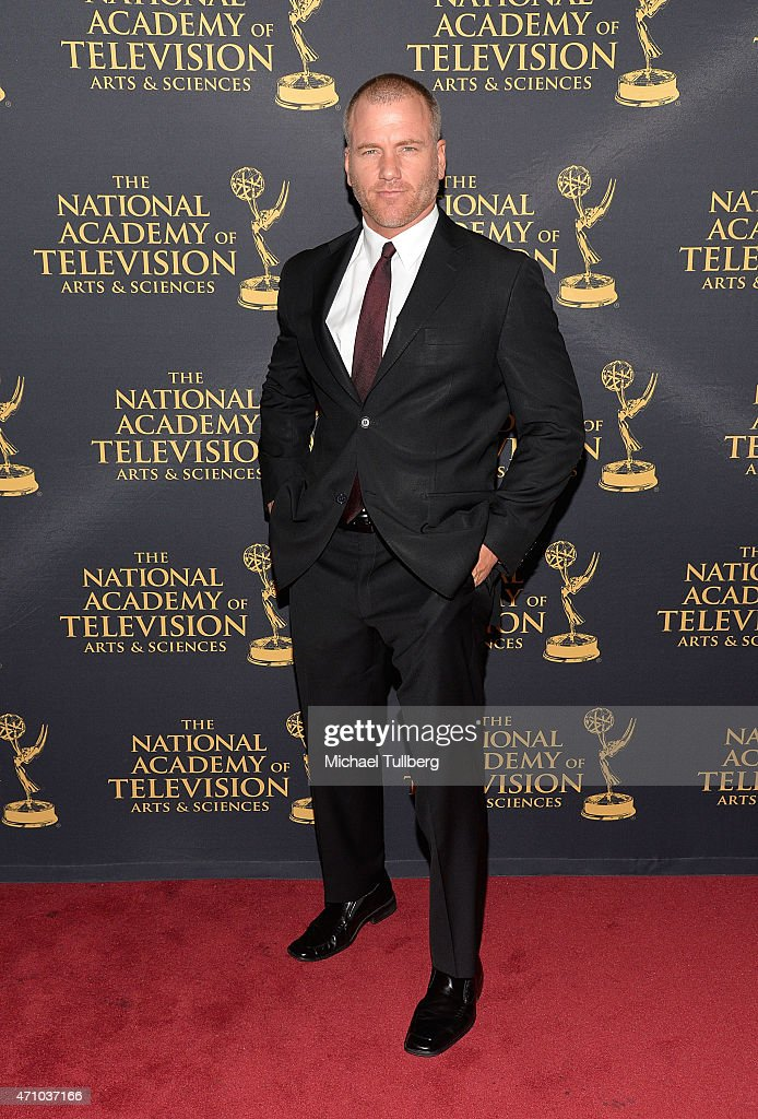 Actor Sean Carrigan attends the 42nd Annual Daytime Creative Arts Emmy Awards at Universal Hilton Hotel on April 24, 2015 in Universal City, California.